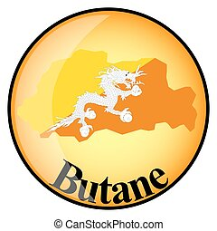 orange button with the image maps of button Butane in the...