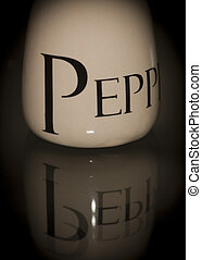 Pepper pot closeup and low key Shot