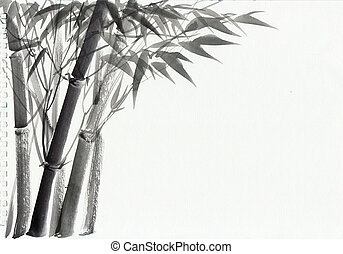 Watercolor painting of bamboo - Bamboo original watercolor...