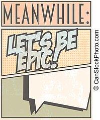 Print - let's me epic, illustration in vector format