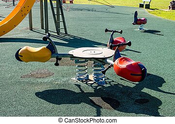 Children Park attraction, the flying bikes