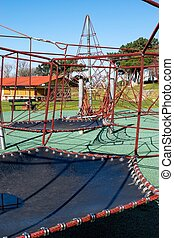 Children Park attraction, the hanging ropes