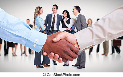 Business Handshake - Handshake Hands of businessman over...