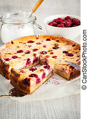 Homemade cherry creamcheese pie - Homemade cherry...