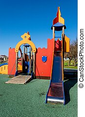 Children Park attraction, the little castle and its slide