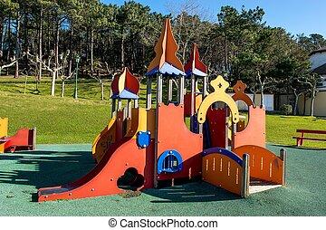 Children Park attraction, the little castle