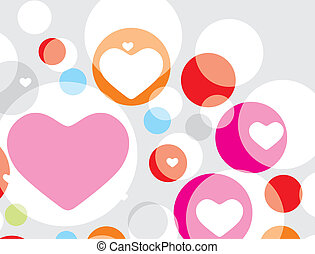 Valentines Day hart - Valentines Day seamless pattern with...