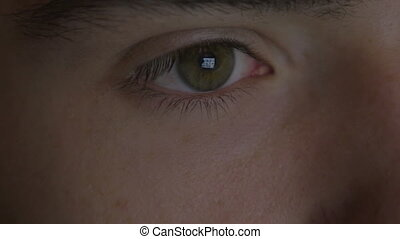 Close-up of a young man eyes - 4k UHD - Close-up of a young...