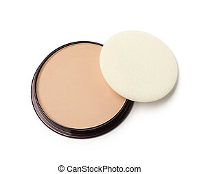 face powder isolated on white background with clipping path