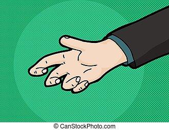 Cartoon Empty Hand