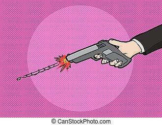 Firing a Pistol