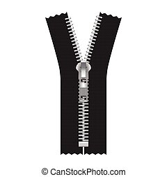 Vector Zipper Illustration Isolated on White