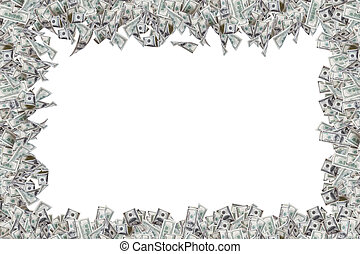 Border of Dollar Banknotes - Border of one hundred dollar...