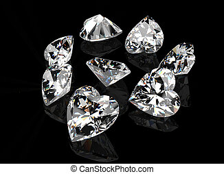I love you Heart shape gemstone Collections of jewelry gems...