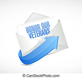 honor our veterans invite illustration design over a white...