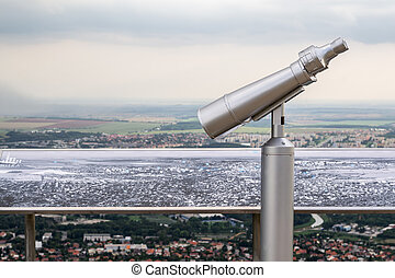 Binocular Viewer and Map of the Area Below the Zobor...