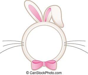 Easter bunny head frame