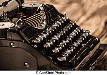 antigas, vindima, Máquina escrever,