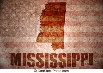 Vintage mississippi map - mississippi map on a vintage...