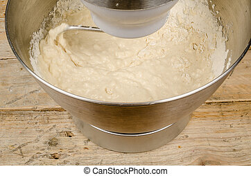 Kneading dough with a domestic food processor