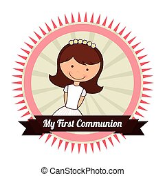 my first communion design, vector illustration eps10 graphic...