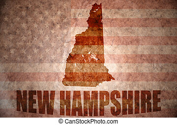 Vintage new hampshire map - new hampshire map on a vintage...