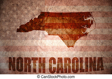 Vintage north carolina map - north carolina map on a vintage...