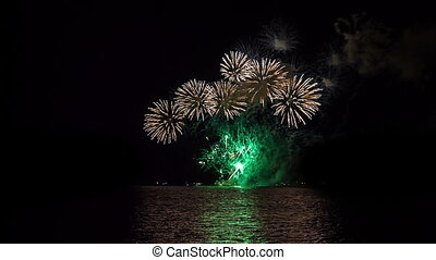 international Festival of pyrotechnic art in Mauritius - the...