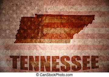 Vintage tennessee map - tennessee map on a vintage american...