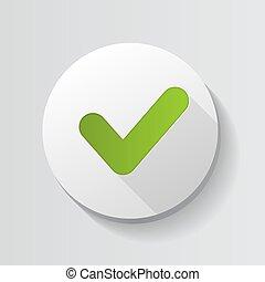 Green Check Mark Icon Button Vector Illustration EPS10