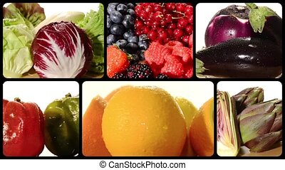 fruit and vegetables composition