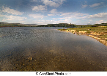 Malham Tarn in the yorkshire dales uk