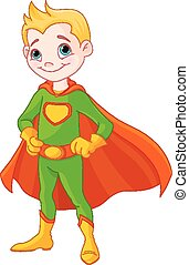 Super boy - Illustration of very cute super boy