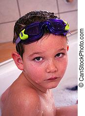 Bathing Child