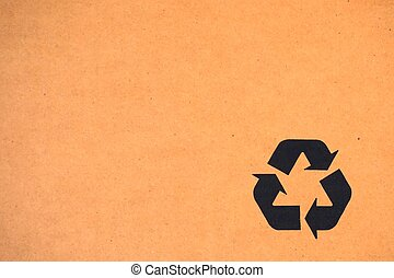 recycle symbol on the carton box