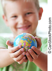 The world in kids hands - The world should be protected for...