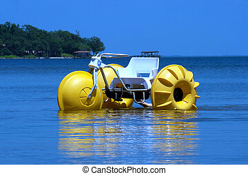 Water trike - A water trike on the blue ocean