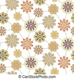 retro  floral seamless pattern background