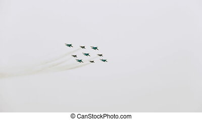 Swifts and Russian Knights in form of Diamond. - SEVASTOPOL,...