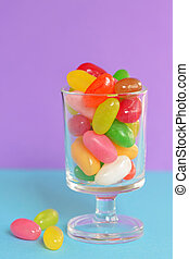 Jelly beans sugar candy in a jar