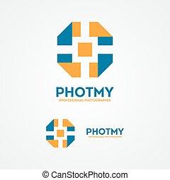Abstract colorful camera shutter logo - Vector logo design...