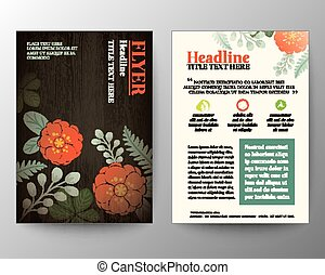 Brochure Flyer graphic design Layout vector template with...