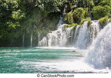 Krka national park in Croatia - Waterfall in Krka national...