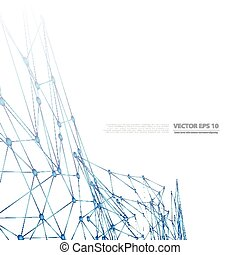 Vector network background abstract polygon triangle....