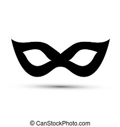 Black carnival mask isolated