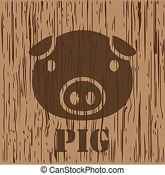 pig, pork icon and symbol
