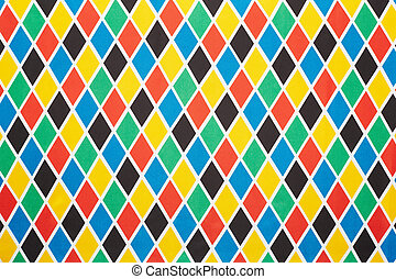 Harlequin diamond pattern background - Harlequin colorful...