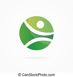 Vector fitness design logo - Vector logo design element with...