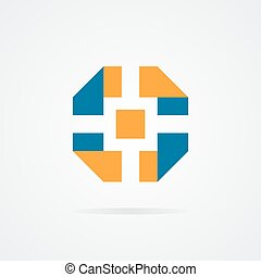 Vector logo of camera shutter - Vector logo design element...