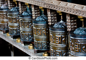 Tibetan Praying Wheels